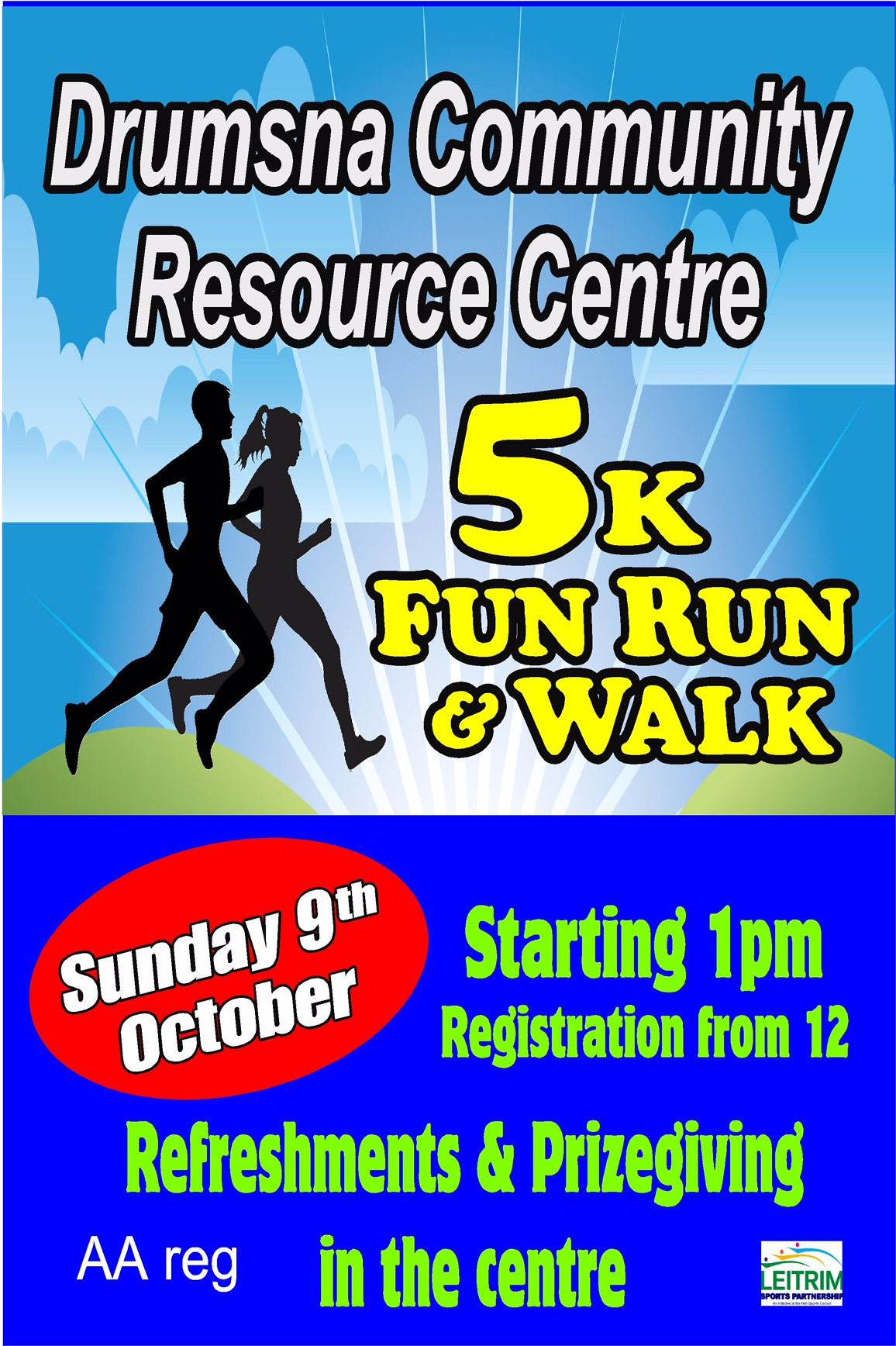 Drumsna 5k Run Sign Layout